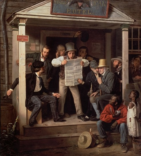 Richard Caton Woodville (1825-1855)War News from Mexico1848Oil on canvas.
